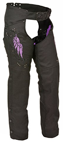 Womens Textile Chap Wing / Rivet Detail (Stretch Womens Chaps)