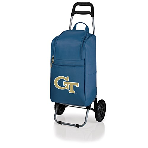 NCAA Georgia Tech Yellow Jackets Insulated Cart Cooler with Wheeled Trolley, Navy