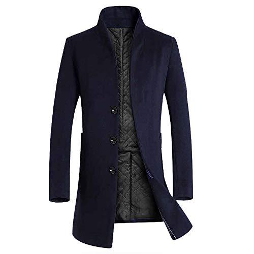 Chaqueta larga de la moda de los hombres, Chaqueta del invierno cálido, abrigo largo cálido de hombre, Jacket formal de hombre Novedad de 2018: Amazon.es: ...