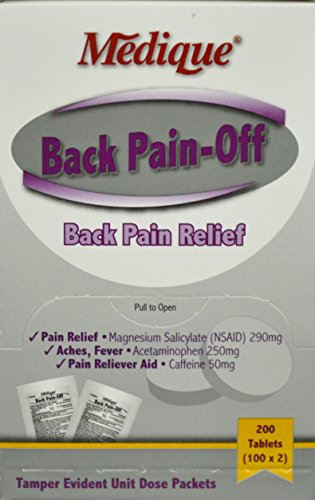 Back Pain-Off Pain Reliever Tablets 200 Tab. Per Box by Medique - MS71290 (50 Mg 200 Tabs)