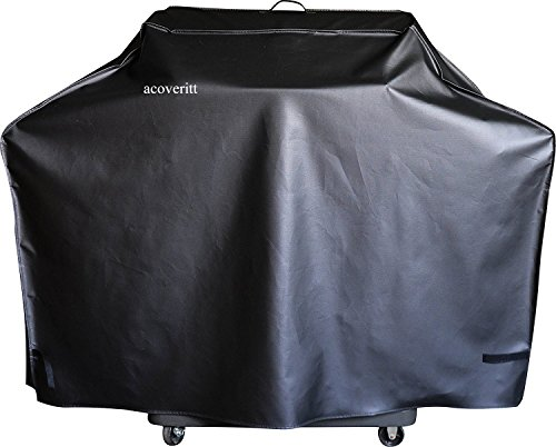 52'' Heavy Duty Waterproof Gas grill cover fits Weber Char-Broil Coleman Gas Grill (52''x22''x40'', black) by a1cover