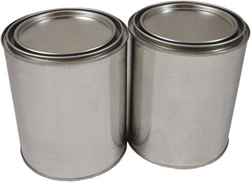 Empty Quart Paint Cans with Lids (2 Pack) Empty Paint Cans Value Pack