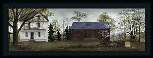 Spring Flowers for Sale by Billy Jacobs Primitive Folk Art Farm 33x13 in Framed Art Print (Folk Art Farm)