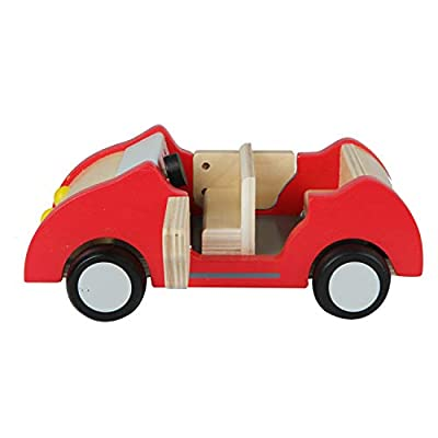 Hape Dollhouse Family Car | Wooden Dolls House Car Toy, Push Vehicle Accessory for Complete Doll House Furniture Set: Toys & Games