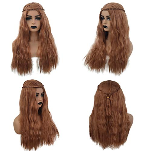 Eoeth Big Sale!Women's Long Curly Hair Wig Halloween Costume Cosplay Party Scorpion Wig High Temperature Fiber Wig Hair Cosplay Hair Wig (Shipped by US) Free Post]()