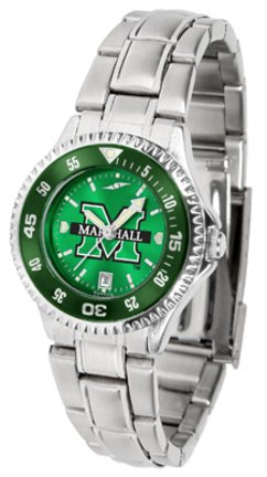 (Marshall Thundering Herd Competitor Steel AnoChrome Women's Watch - Color Bezel)