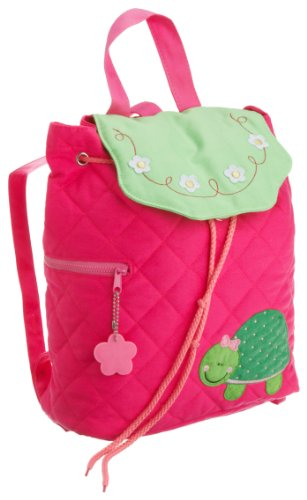 Stephen Joseph Little Girls' Mini Sidekick Backpack Turtle,Hot Pink/Lime Green,One Size Hot Pink Sidekick