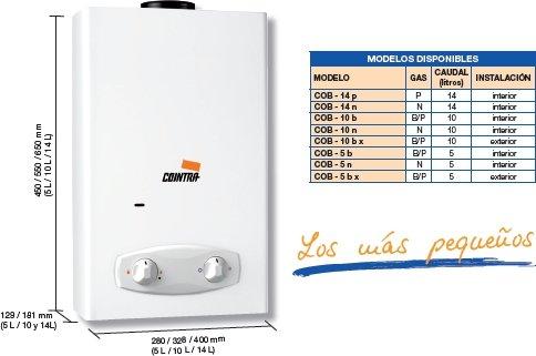 Cointra COB11DB - Hervidor de agua (Tank (water storage), Interior, Vertical, 32.8 cm, 18.1 cm, 55 cm) Color blanco: Amazon.es: Bricolaje y herramientas