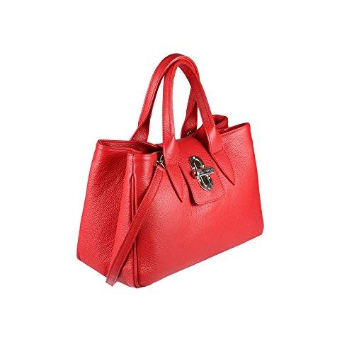 Rojo couture En Negro Cm Tela Only cocodrilo Para Bolso Obc De Relieve 37x24x17 bxhxt Mujer beautiful SxE7Wqwxna
