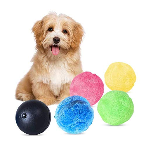 Robotic Laser Ball - Viet's Hand Magic Roller Activation Ball Toy for Dog- Ball Mini Robotic Cleaner, Microfiber Mop Ball, Automatic Vacuum Cleaner Cute Roll Ball Creative Automatic Rolling Furball Floor Cleaner
