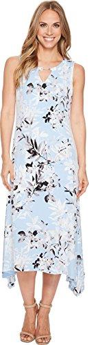 Calvin Klein Womens Crew Neck Printed Maxi Dress Iceberg Multi XL (US 14) One Size by Calvin Klein