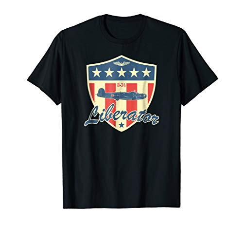 Used, WW2 Air Force Bomber Airplane T shirt - B-24 Liberator for sale  Delivered anywhere in USA