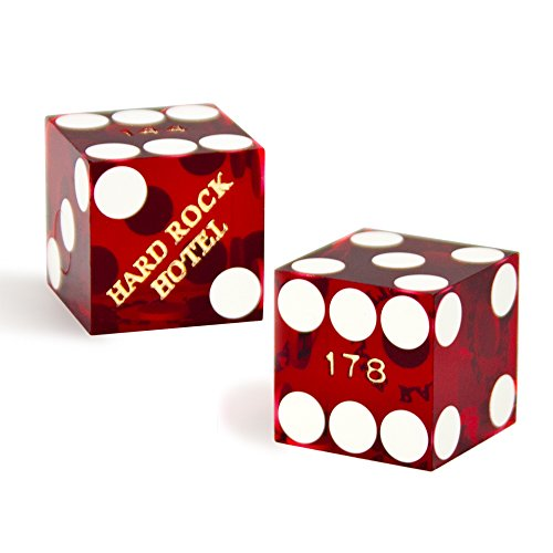 (Luck Lab Two (2) Authentic Used Las Vegas Casino Gaming Dice (Set of 2))