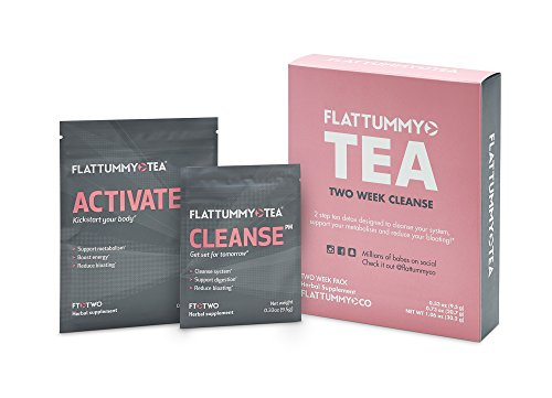 Flat Tummy Tea 2-Week Detox Herbal Tea To Help Kick That Bloated and Sluggish Feeling