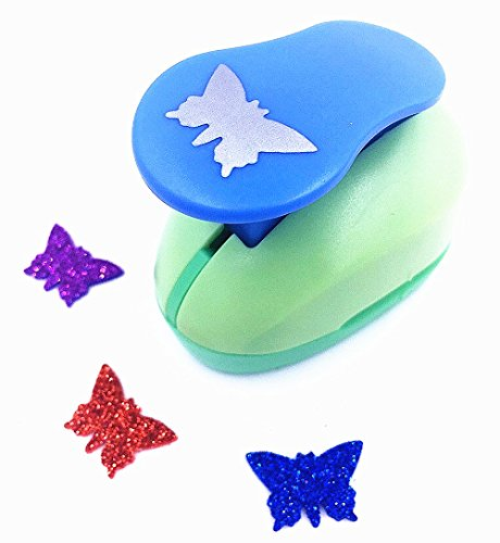 TECH-P Creative Life 2- Inch(40mm-50mm ) Multi-pattern Hand Press Album Cards Paper Craft Punch,card Scrapbooking Engraving Kid Cut DIY Handmade Hole Puncher,Paper Craft Punch. (Butterfly) (Medium Butterfly Punch)