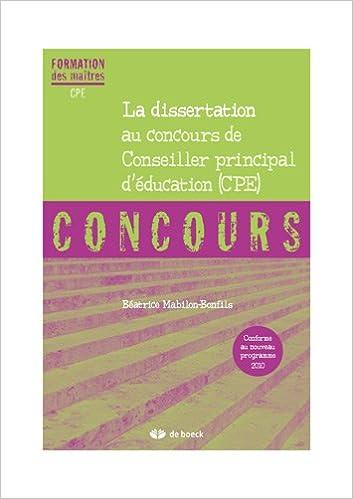 méthodologie dissertation concours cpe
