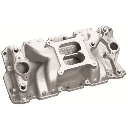 Professional Products 52026 Satin Crosswind Intake Manifold for Small Block Chevy