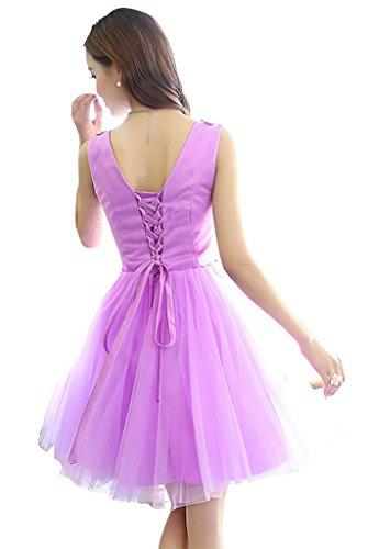 Kleid Violett Drasawee Damen A Violett Linie PZSt8Sw