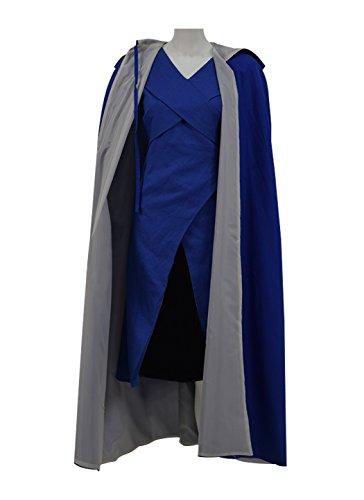 (Very Last Shop Hot Fantasy TV Series Dragon Dany Blue Dress With Cape Women Halloween Costume (US Women-XXL,)