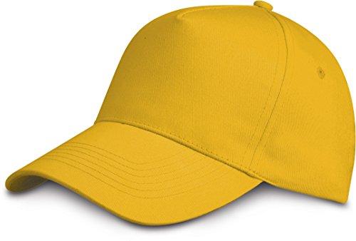 cierre Shirtinstyle amarillo de claro Gorra con unisex velcro AAxfwzqtr