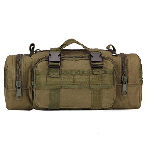 preliked despliegue bolsa versátil riñonera táctica hombres cintura bolsa de hombro paquete bolsa, Verde, 35cm x 18cm x...