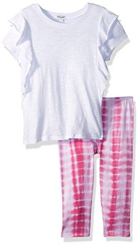 Splendid Baby Girls Tie dye Legging Set, Optic White, 12/18 mo ()