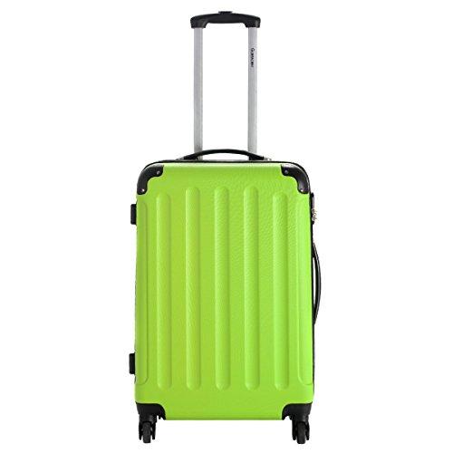 Goplus 3 Pcs Luggage Set Hardside Travel Rolling Suitcase ABS Globalway (Green) by Goplus (Image #2)