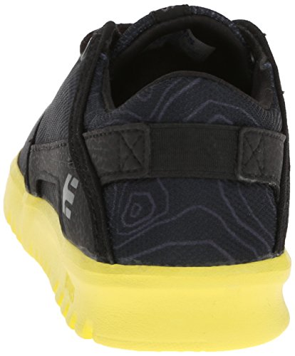 Etnies KIDS SCOUT Unisex-Kinder Skateboardschuhe Schwarz (Black/Yellow)