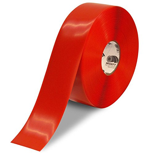 Mighty Line Floor Tape 3 inch Red 100' Roll