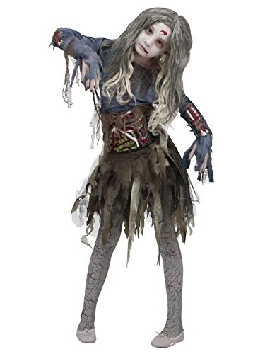 Fun World Zombie Girls Halloween Costume, Large (12-14) -