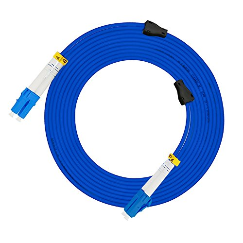 Jeirdus 50M LC to LC Indoor Armored Duplex 9/125 SM Fiber Optic Cable Jumper Optical Patch Cord Singlemode 50Meters 160ft ()