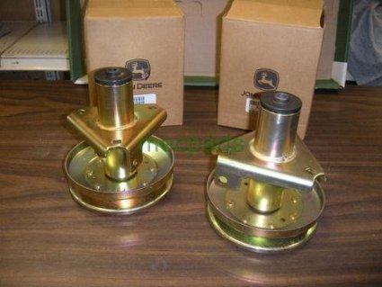 """John Deere AM128048 Mower Deck Spindles 2 of Am128048 38"""" Lt155 NEW Pair"""