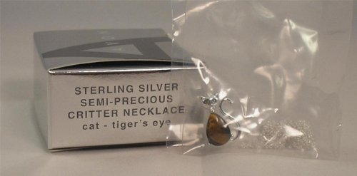 Avon Sterling Silver Semi-Precious Critter Necklace - Cat ()