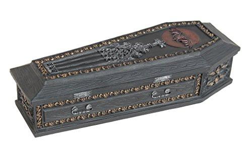 (Gothic Coffin Vampire Slayer Kit Trinket Box, 8 Inch Long)