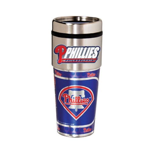 Great American Products Philadelphia Phillies 16oz. Stainless Steel Travel Tumbler/Mug ()