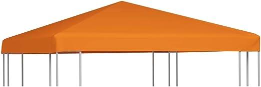 vidaXL Toldo de Cenador 2 Niveles 310 g/m² 3x3 m Naranja Pabellón ...