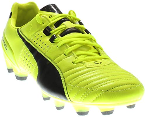 PUMA Men's King ii fg-m, Safety Yellow/Black, 8 D US