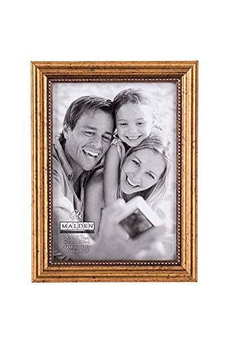 Designs Classic Wood Picture Frame, 5x7, Gold ()