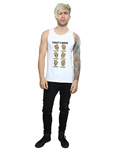 Marvel Guardians Tank Groot Today's Galaxy Homme Top Mood Of Blanc The w7AxHB