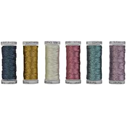6 Colors 3-Ply Metallic Tatting yarn 50 meters each for Tatting Jewellery lacemaking (Set #1)