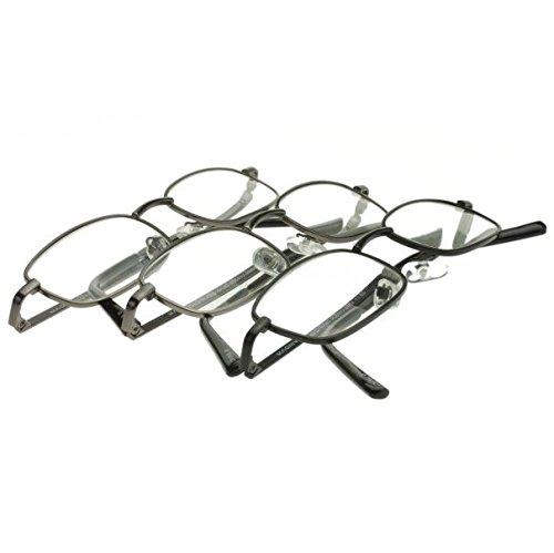 Foster Grant Men's Council 3 PK Rectangular Reading Glasses,Gunmetal,2.5 (Foster Grant Reading)
