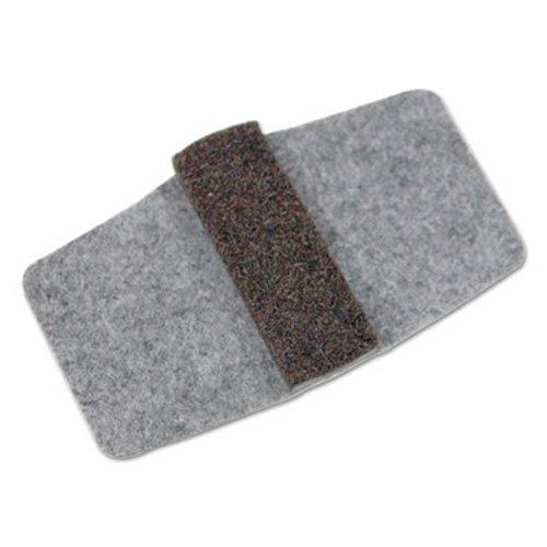 Wrap Around Felt Floor Savers, 7 1/4 x 1 x 8, Gray/Black, 16 Sliders/Pack (2 Pack)