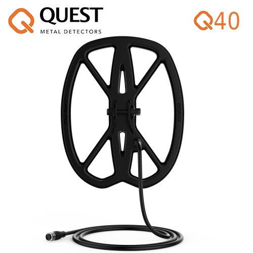 Deteknics Metal Detector Quest Q40 Raptor placa de 11