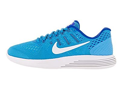 NIKE Women's Lunarglide 8 Running Shoes (11 B(M) US, Blue Glow/White/RCR Blue/Hypr Turq)