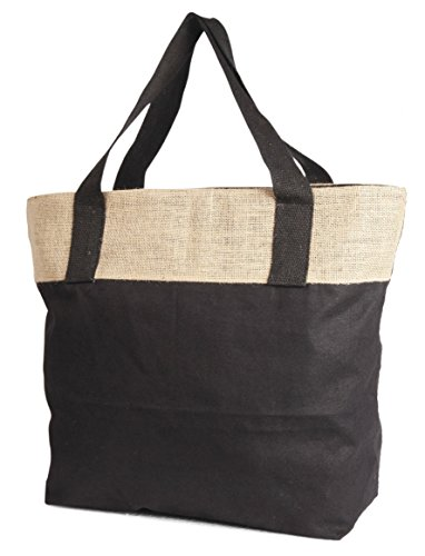 Cotton Canvas Zippered Tote - 7