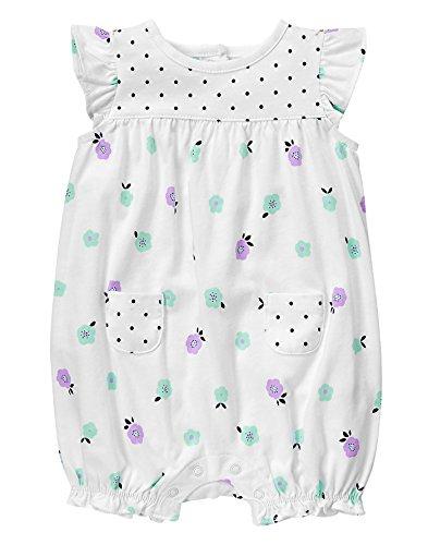 Gymboree Baby Toddler Girls' Floral Romper, Multi, 12-18 Months