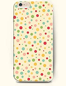 iPhone 6 Plus Case 5.5 Inches Colorful Circles - Hard Back Plastic Case OOFIT Authentic