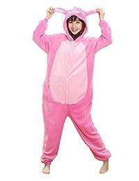 I'MQueen Womens Stitch Onesie Adult Pajamas Cartoon Cosplay Costume Homewear