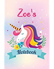 Zoe's Notebook: Composition Notebook | Wide Ruled Paper Notebook Journal | Nifty Wide Blank Lined Workbook for Teens Kids Students Girls for Home School College