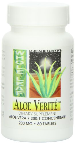 Source Naturals Aloe Verite Whole Leaf, 60 (Aloe Vera Juice Tabs)